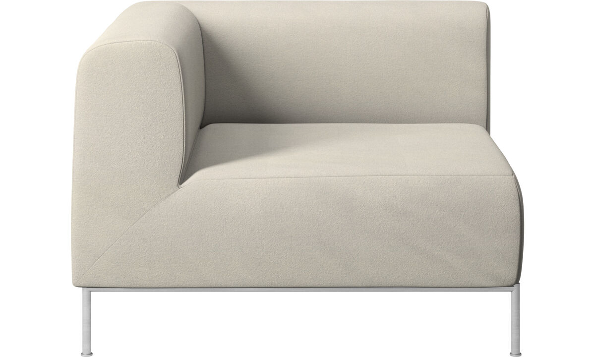 Modular sofas - Miami corner unit left side - White - Fabric