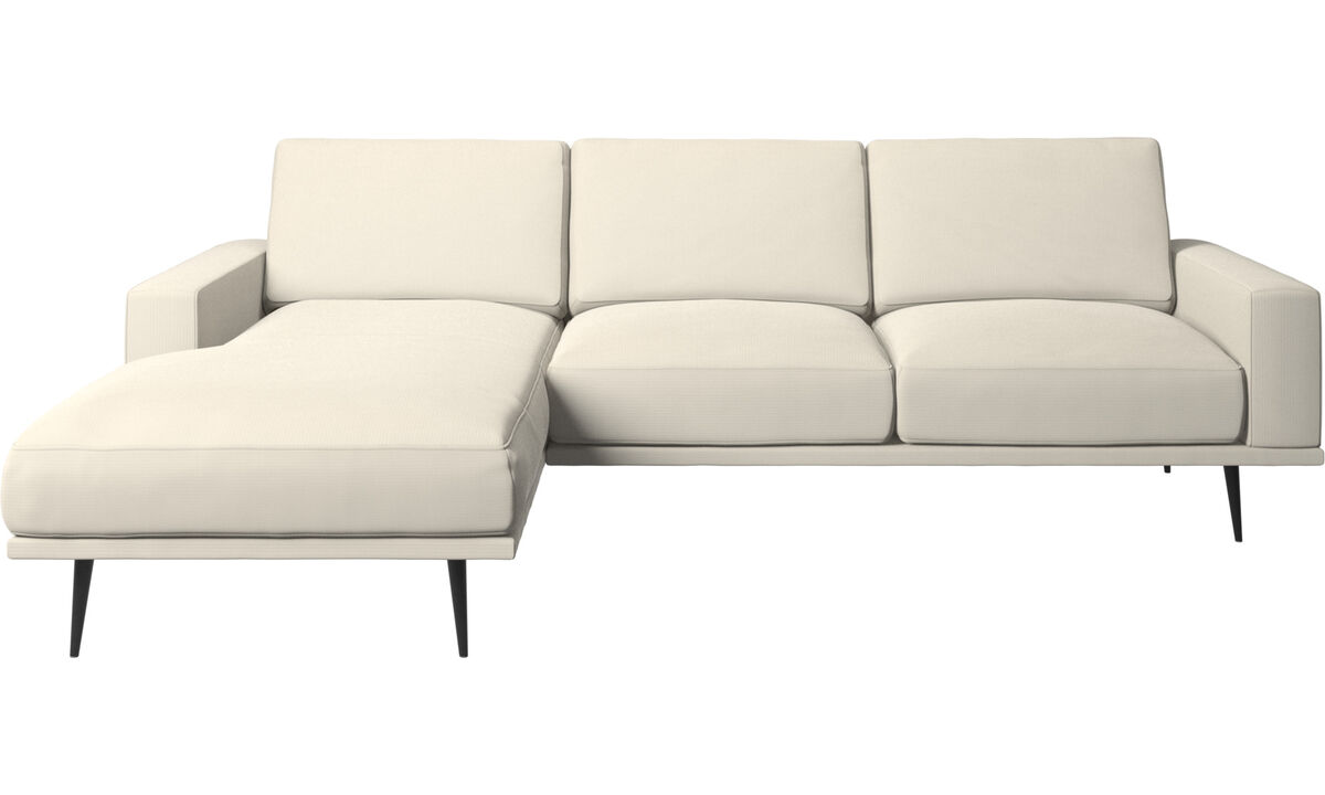 New designs - Carlton sofa with resting unit - White - Fabric