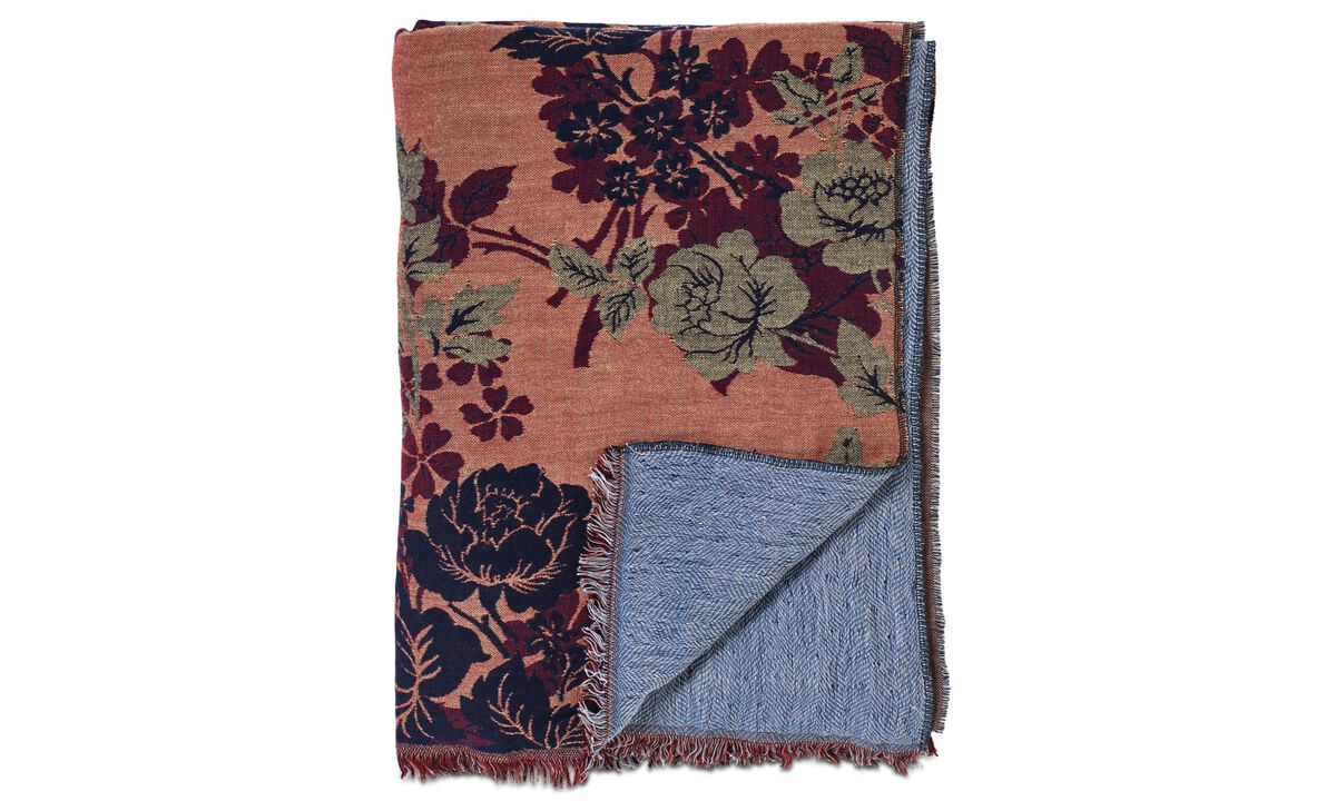 New designs - Botanic throw - Blue - Fabric