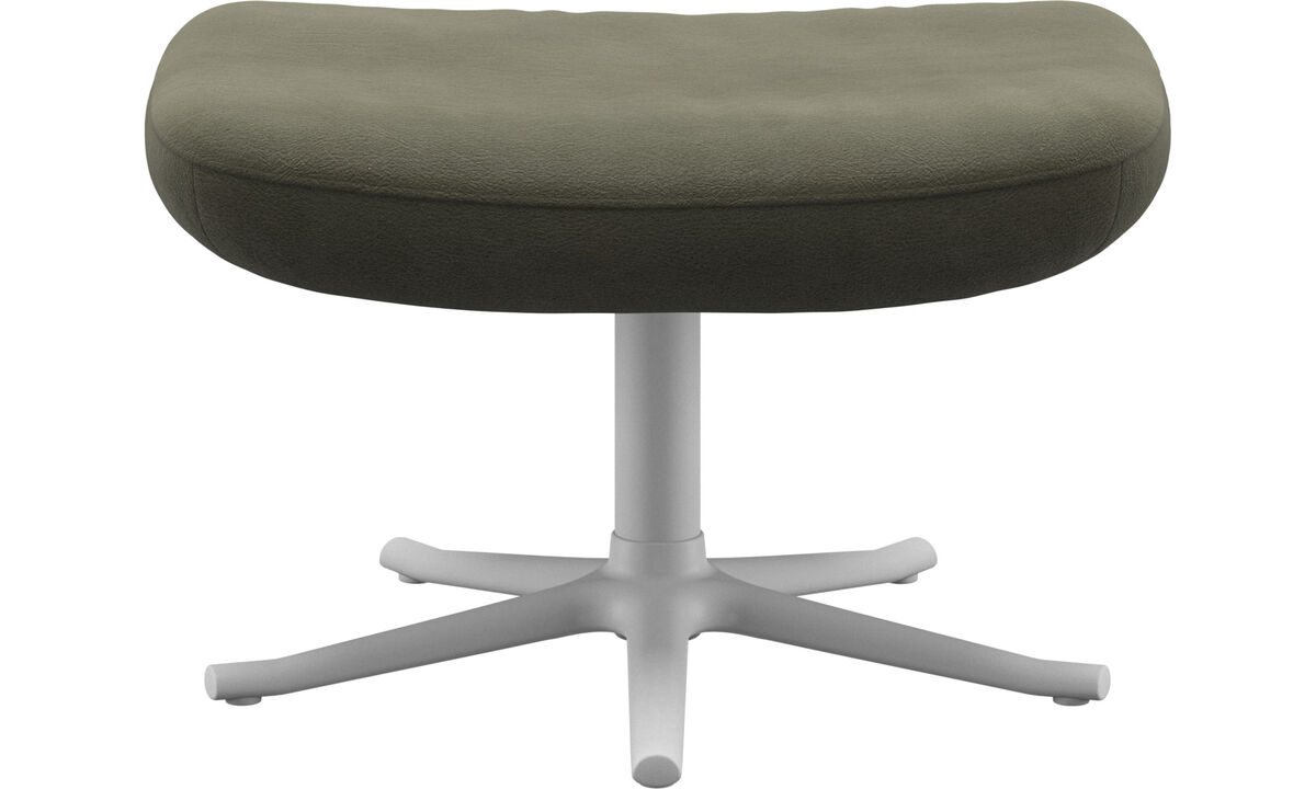 Footstools - Lucca footstool - Green - Leather