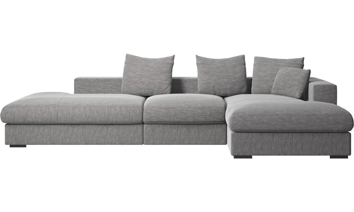New designs - Cenova sofa with lounging and resting unit - Grey - Fabric