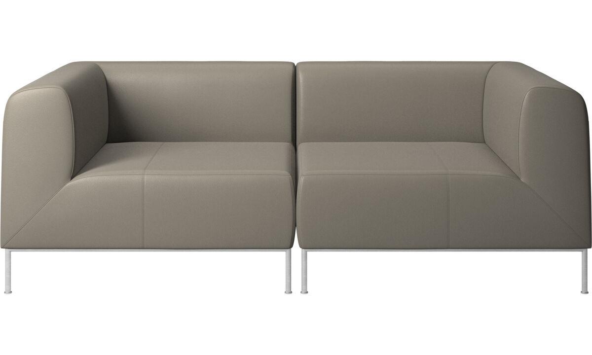 Sofás modulares - sofá Miami - En gris - Piel