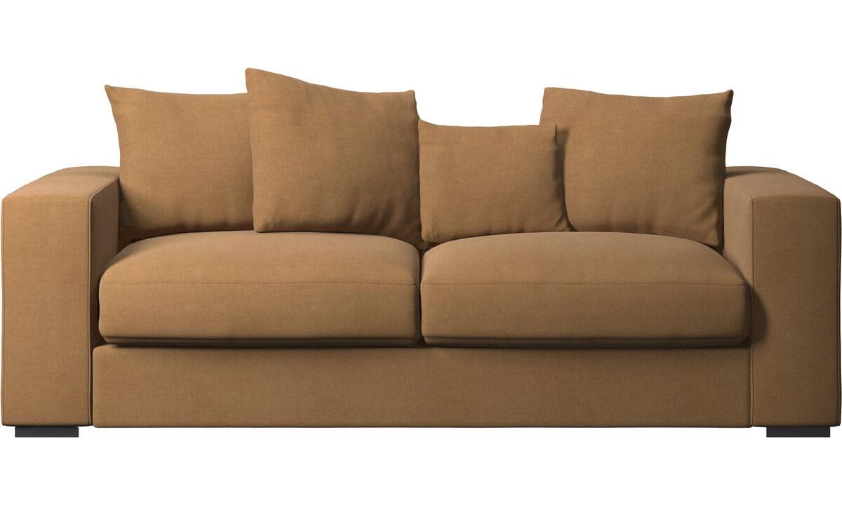 2.5 seater sofas - Cenova sofa - Brown - Fabric