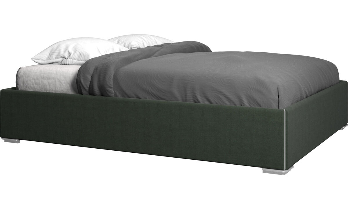 Beds - Mezzo storage bed with lift-up frame and slats, excl. mattress - Green - Fabric
