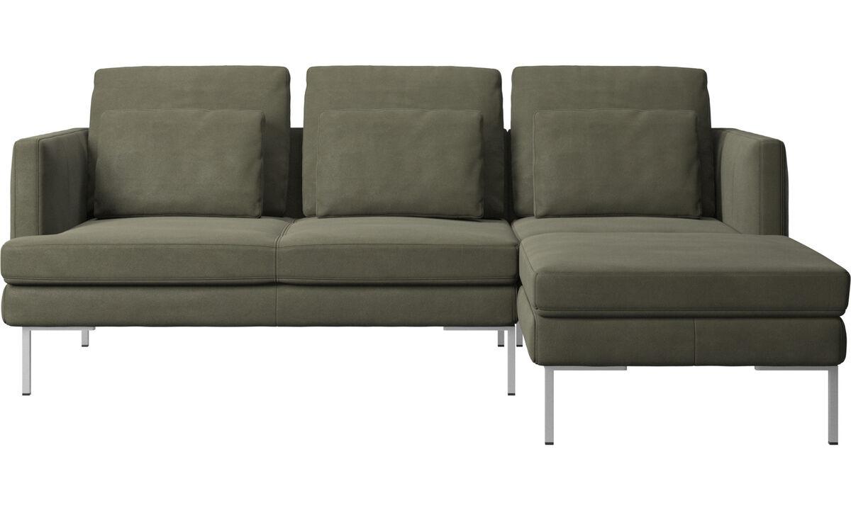 3-sitzer Sofas - Istra 2 Sofa mit Ruhemodul - Grün - Leder