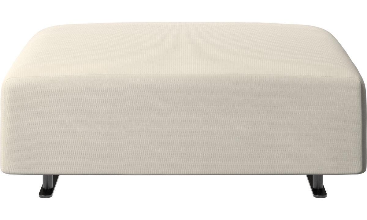 Footstools - Hampton pouf - White - Fabric