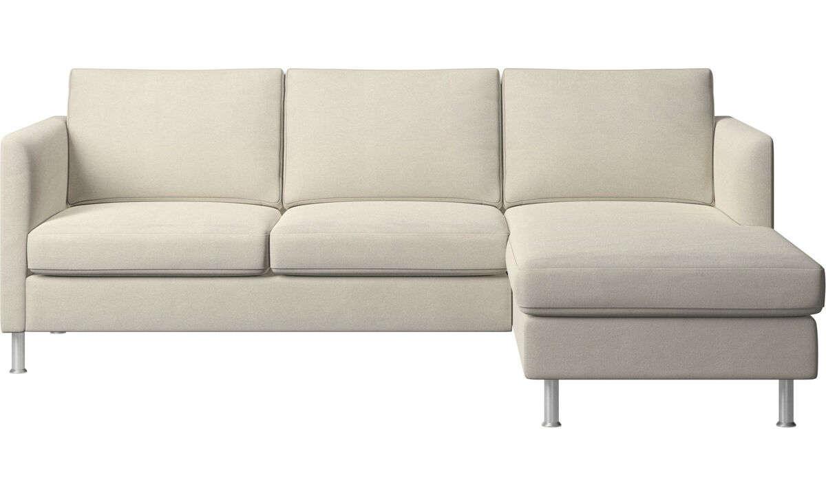 Chaise longue sofas - Indivi sofa with resting unit - White - Fabric