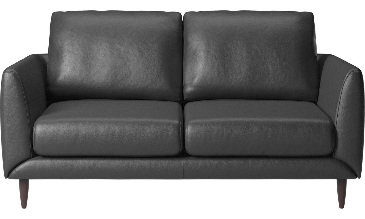 2 seater sofas - Fargo sofa - Black - Leather