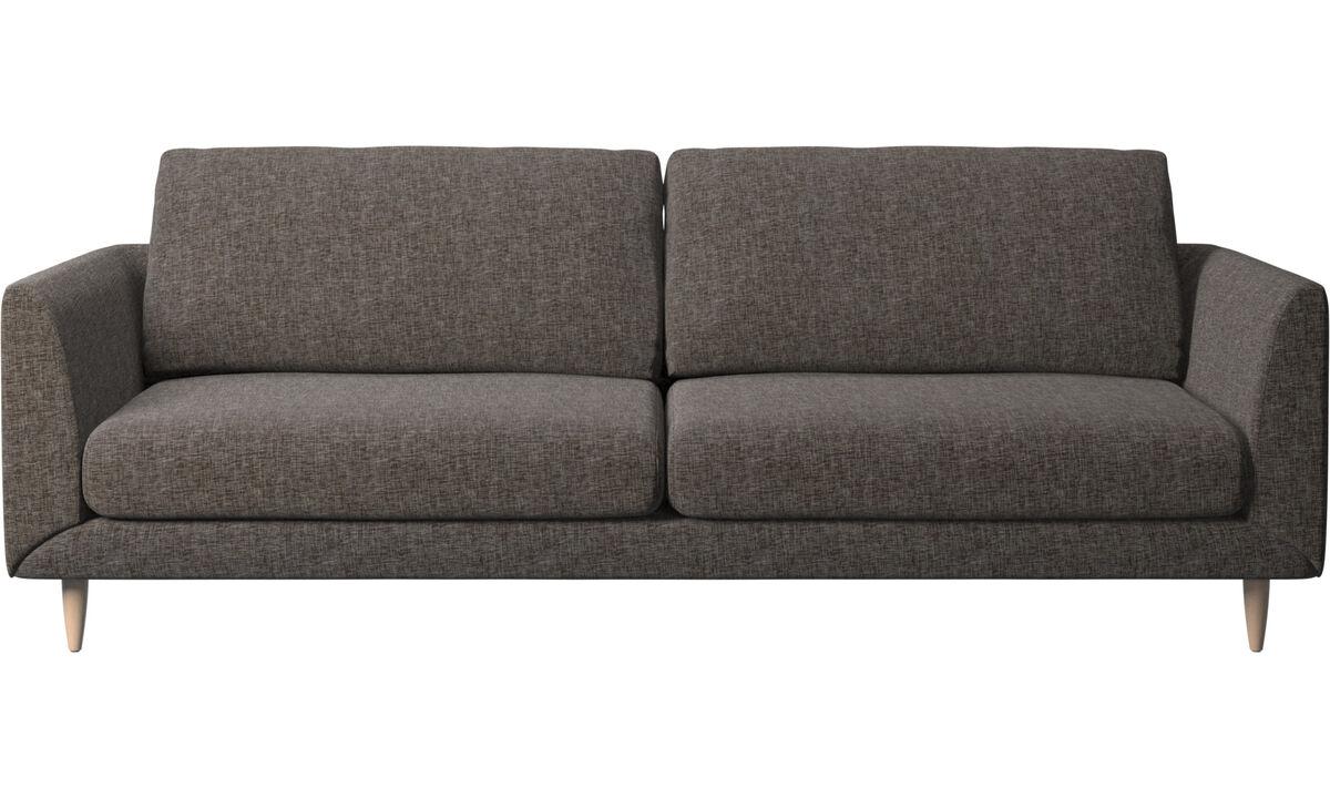 3 seater sofas - Fargo sofa - Brown - Fabric