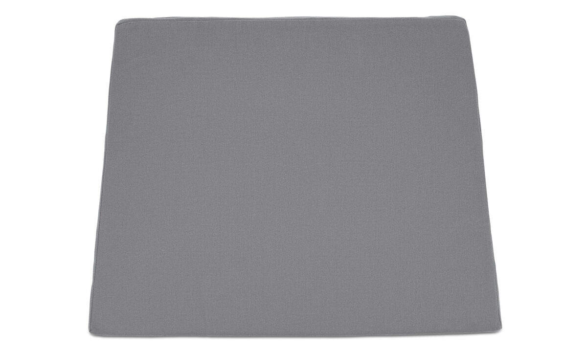 Outdoor chairs - seat cushion (for in- and outdoor use) - Gray - Fabric