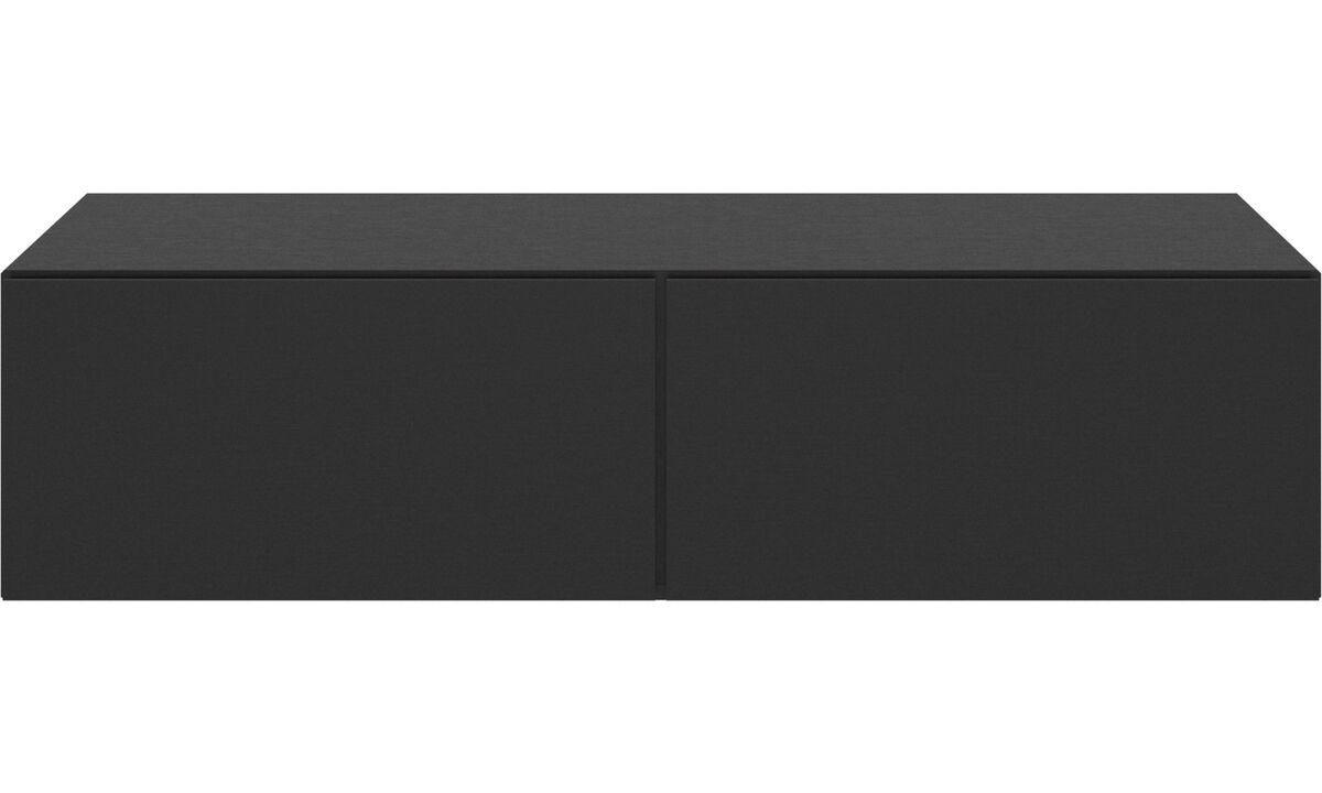 Sistemas de pared - gabinete de pared Lugano con puertas abatibles hacia abajo - En negro - Roble