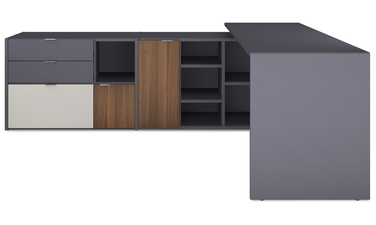 Wall systems - Copenhagen office system - Grey - Lacquered