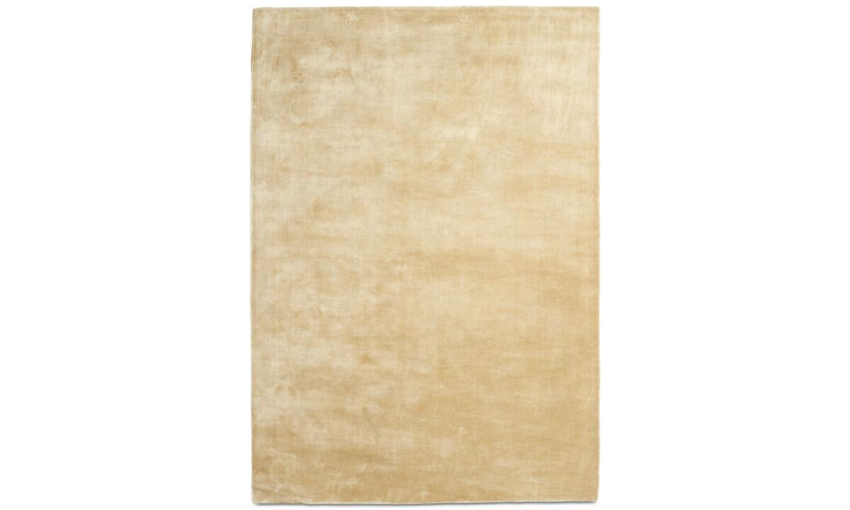 Alfombra rectangulares - Alfombra Loom - rectangular - En beige - Tencel