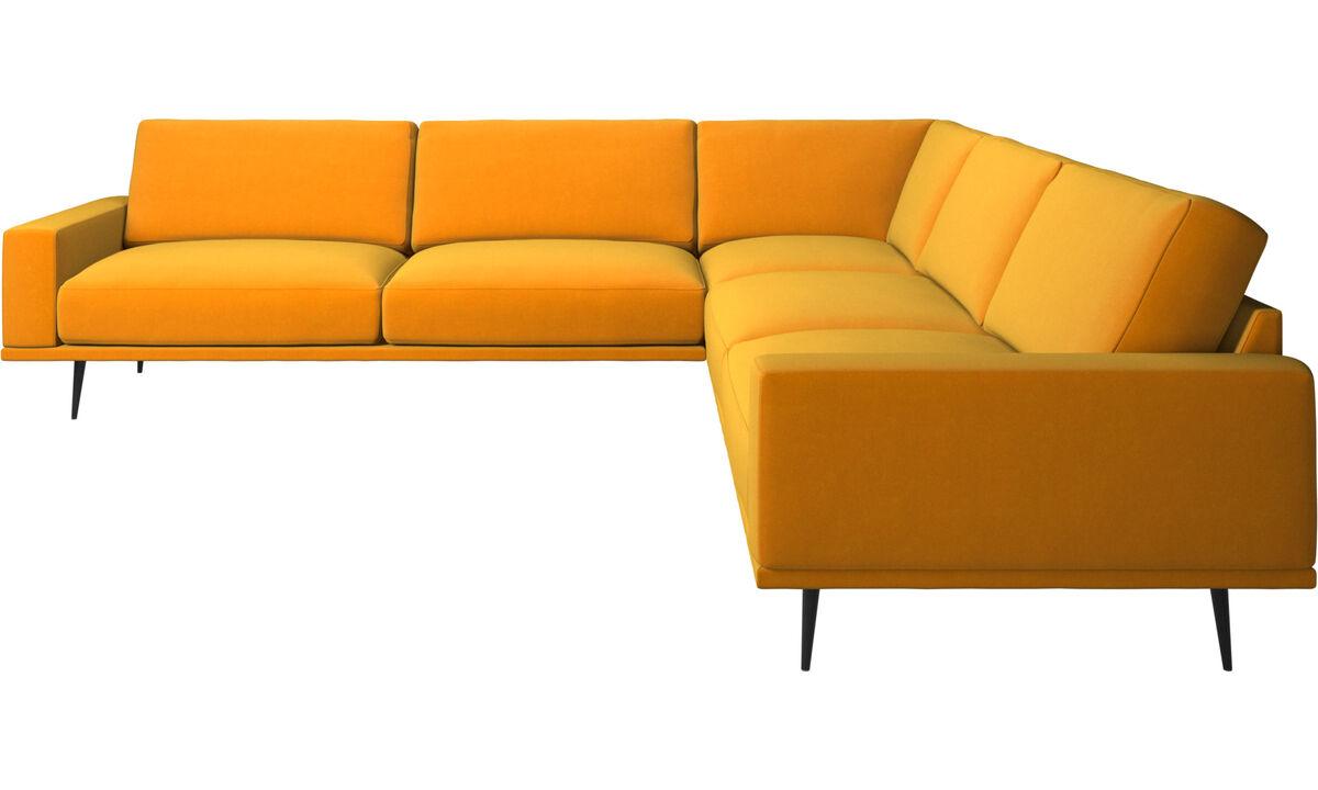 Corner sofas - Carlton corner sofa - Orange - Fabric