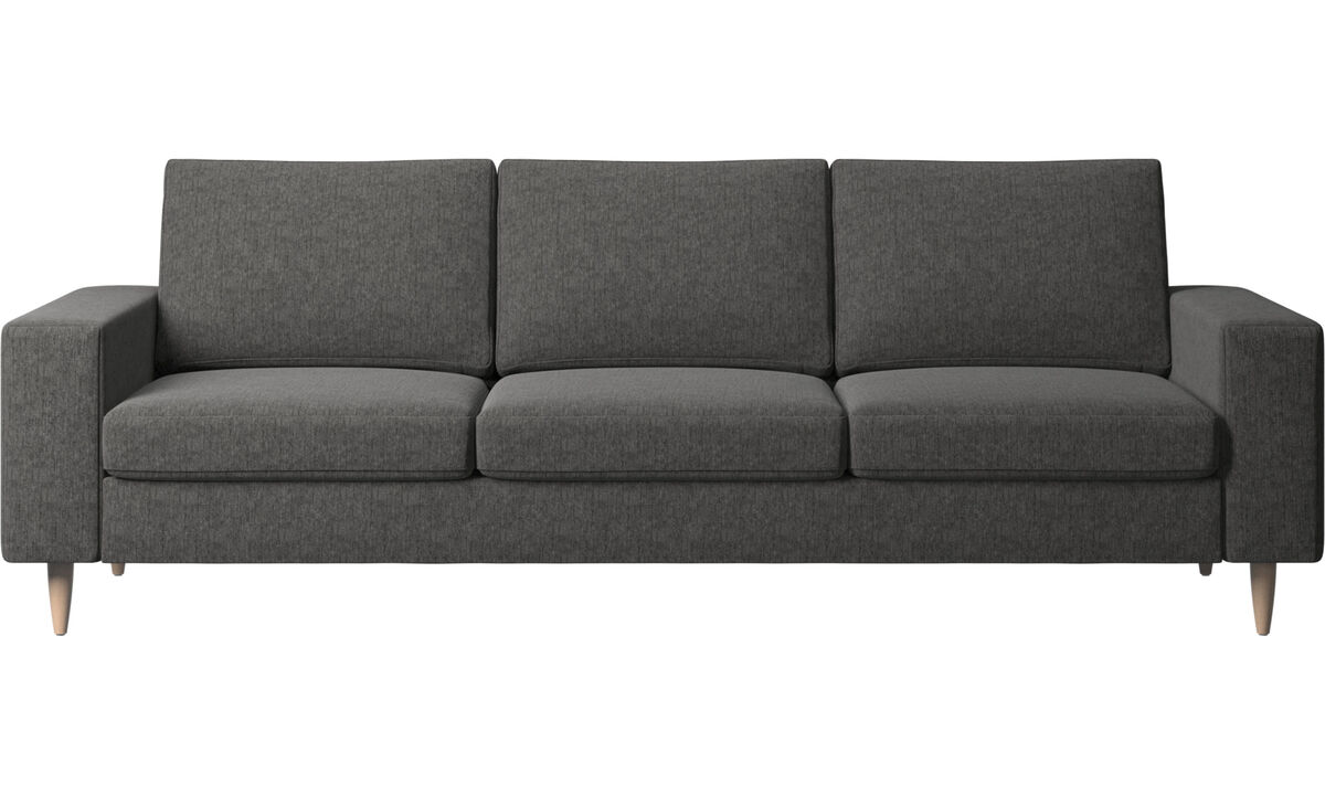 Sofas - Indivi 2 sofa - Grey - Fabric
