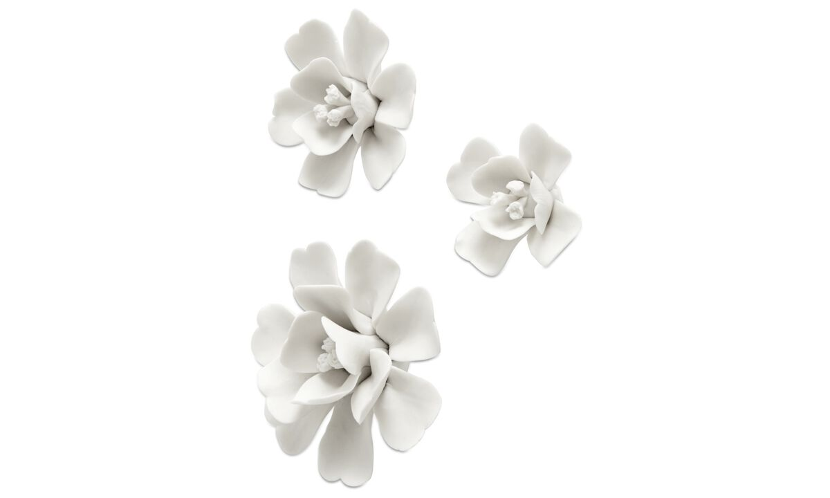 Wall decorations  - Magnolia wall decoration - White - Ceramic