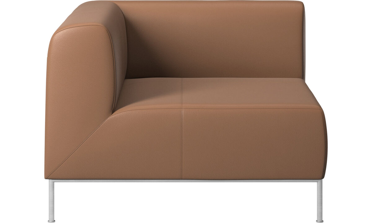 Modular sofas - Miami corner unit left side - Brown - Leather