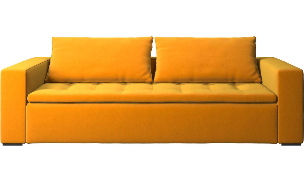 3 seater sofas - Mezzo sofa - Orange - Fabric