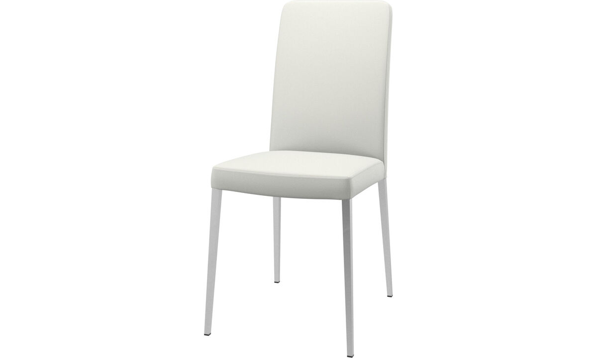 Dining chairs - Nico chair - White - Leather