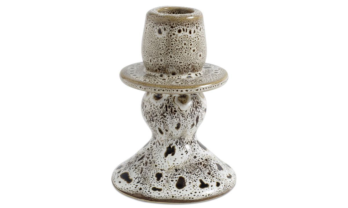 Decoration - Spot Candlestick - White - Ceramic