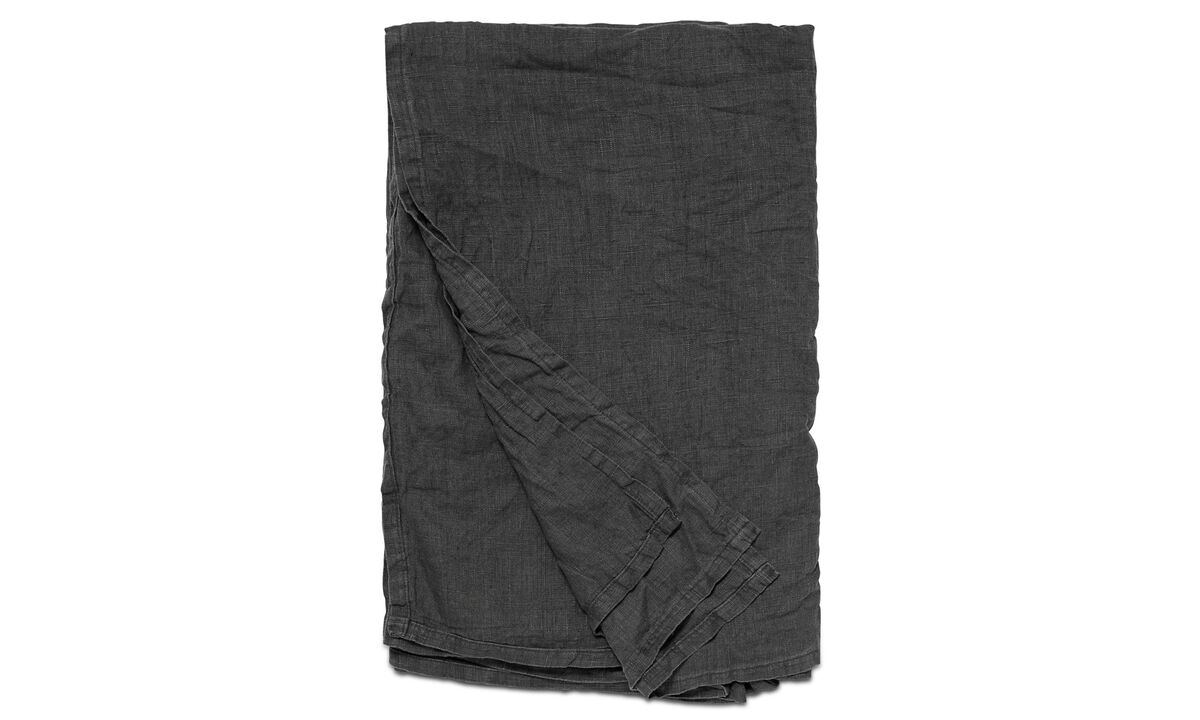 Throws & bedspreads - Linen padded bedspread - Gray - Fabric