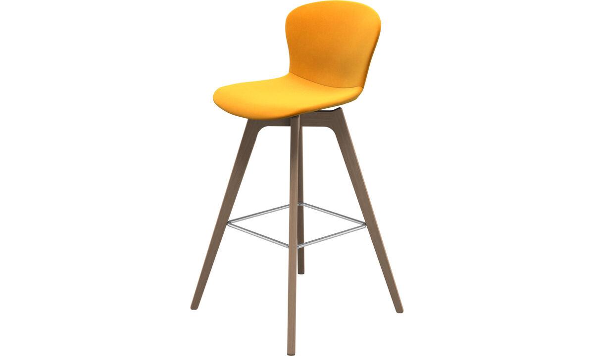 Bar stools - Adelaide barstool - Orange - Fabric