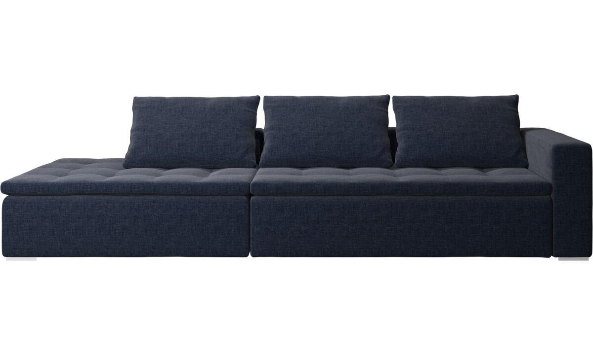 Navy blue napoli mezzo sofa with lounging unit boconcept for Sofa 2 meter