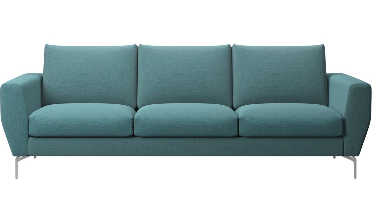 3 seater sofas - Nice sofa - Blue - Fabric