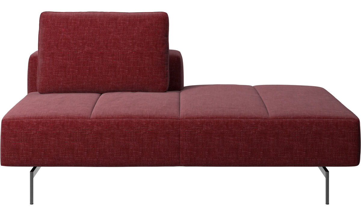 Modular sofas - Amsterdam lounging module for sofa, small armrest right - Red - Fabric