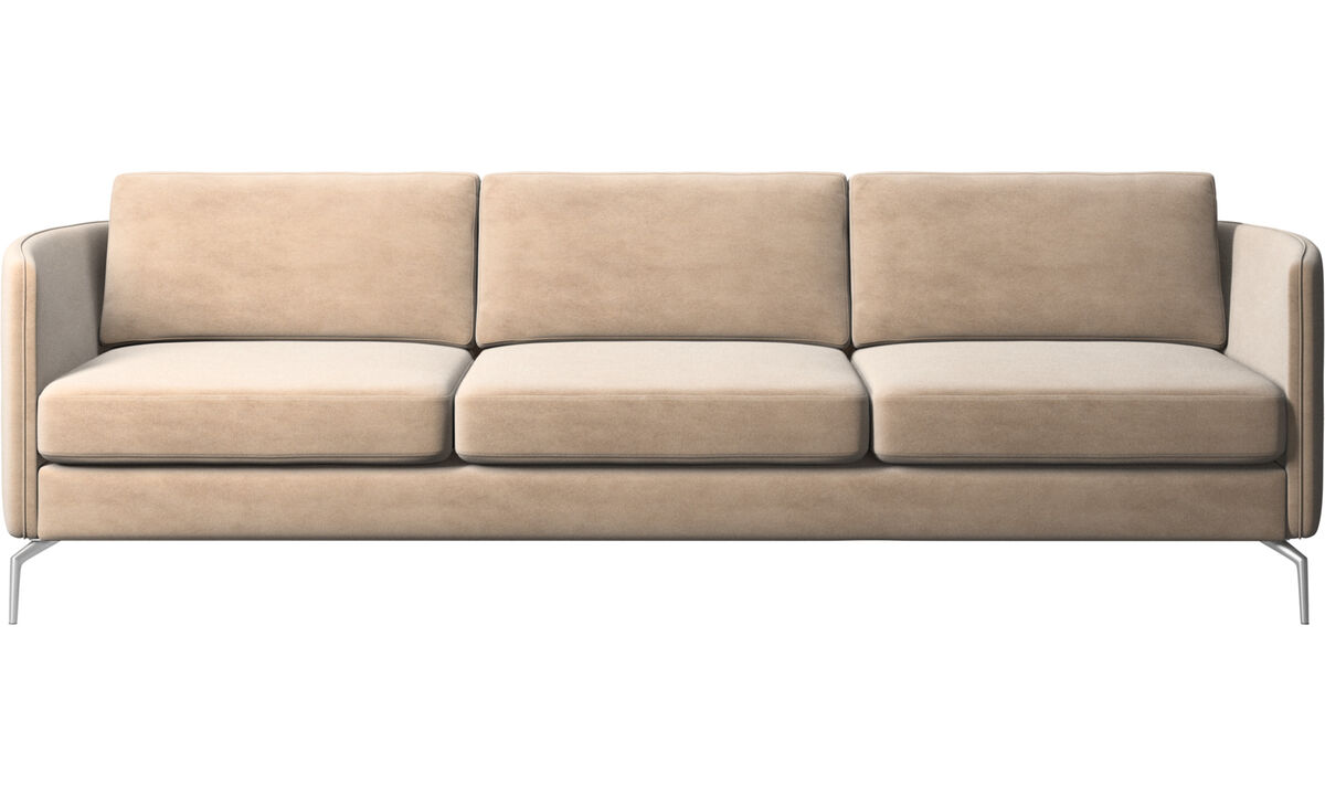 3 seater sofas - Osaka sofa, regular seat - Beige - Fabric
