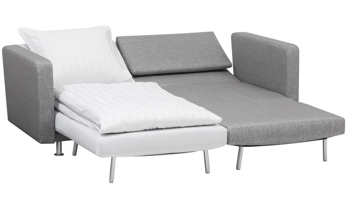 New designs - Melo 2 sofa with reclining and sleeping function - Grey - Fabric