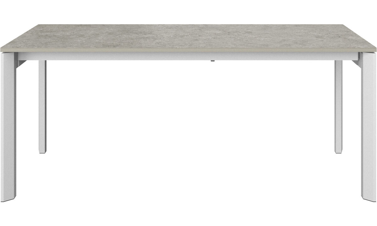 Dining tables - Lyon table with supplementary tabletop - rectangular - Grey - Ceramic