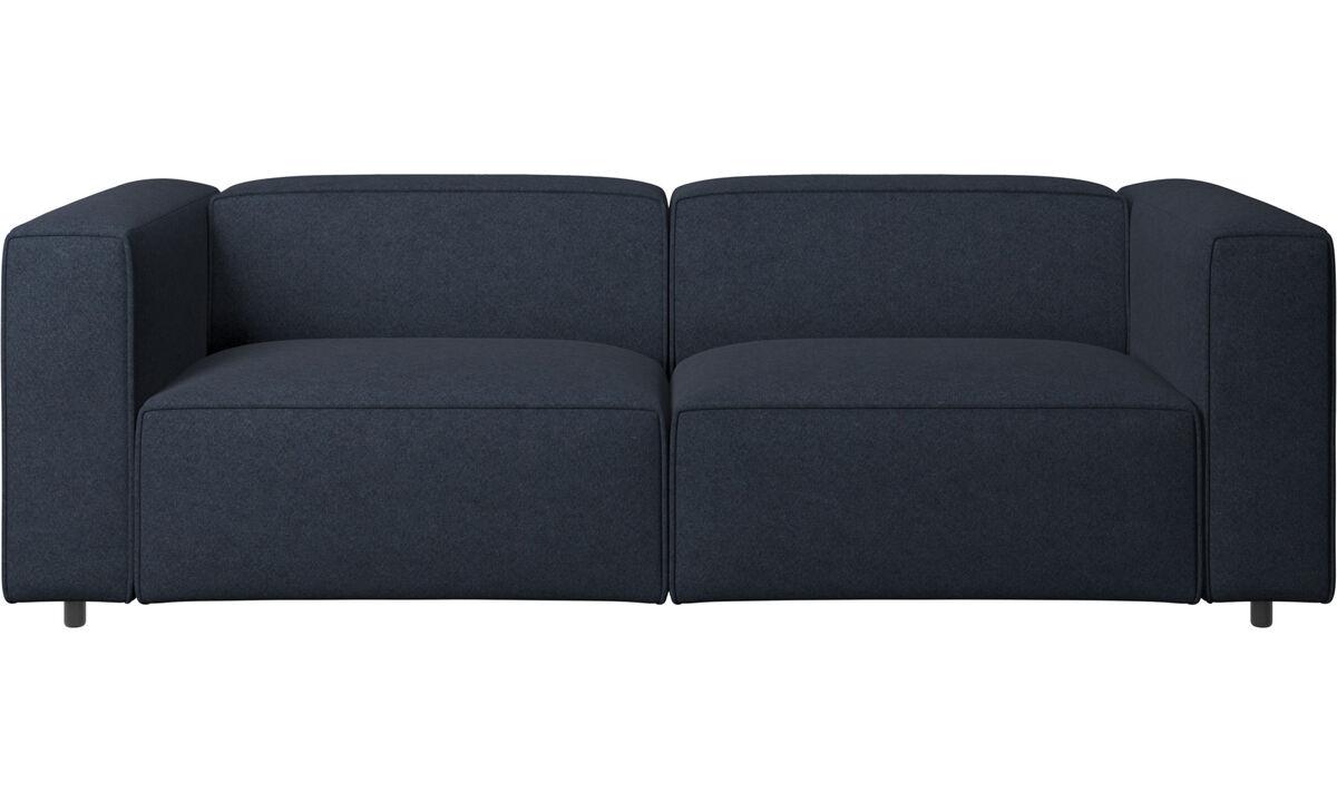 2½-sitzer Sofas - Carmo verstellbares Sofa - Blau - Stoff