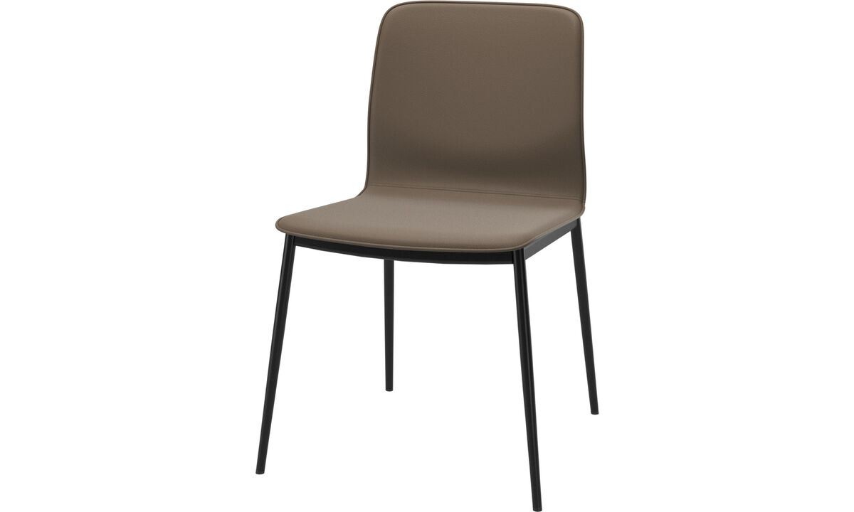 Dining chairs - Newport dining chair - Grey - Leather