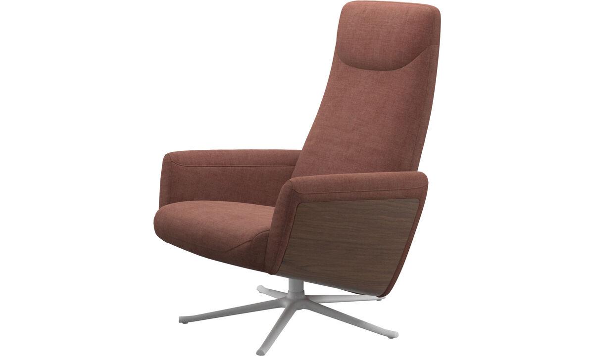 Butacas reclinables - butaca reclinable Lucca con función giratoria - Rojo - Tela
