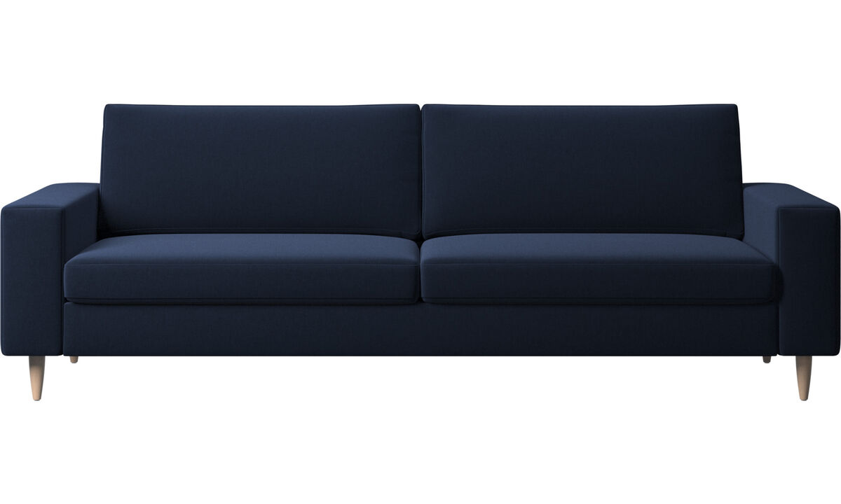 3 seater sofas - Indivi 2 sofa - Blue - Fabric
