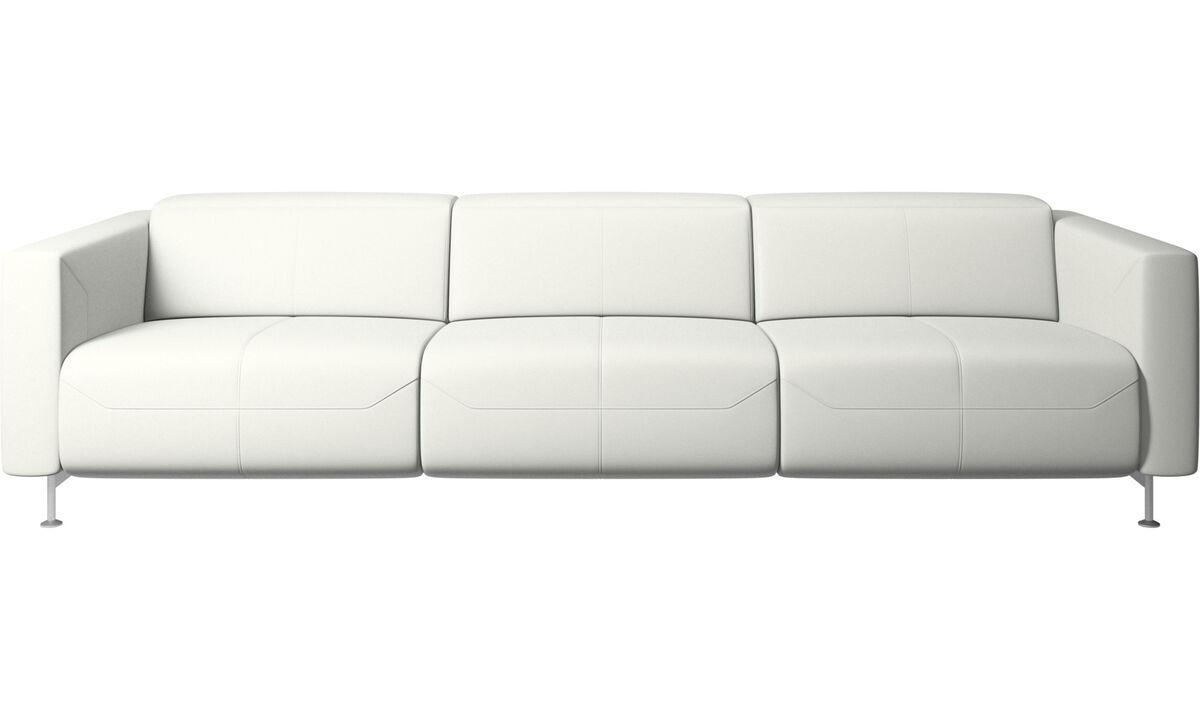 Sofás de 3 lugares - Sofá reclinável Parma - White - Couro