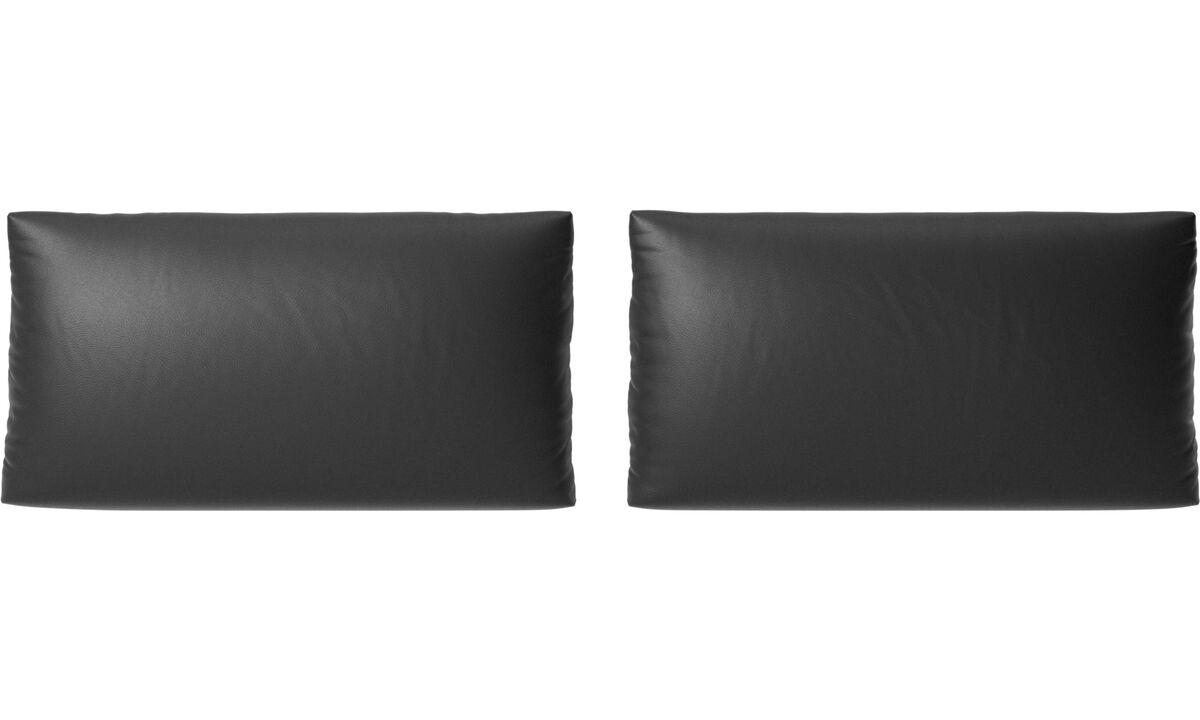 Furniture accessories - Nantes sofa cushions - Black - Leather