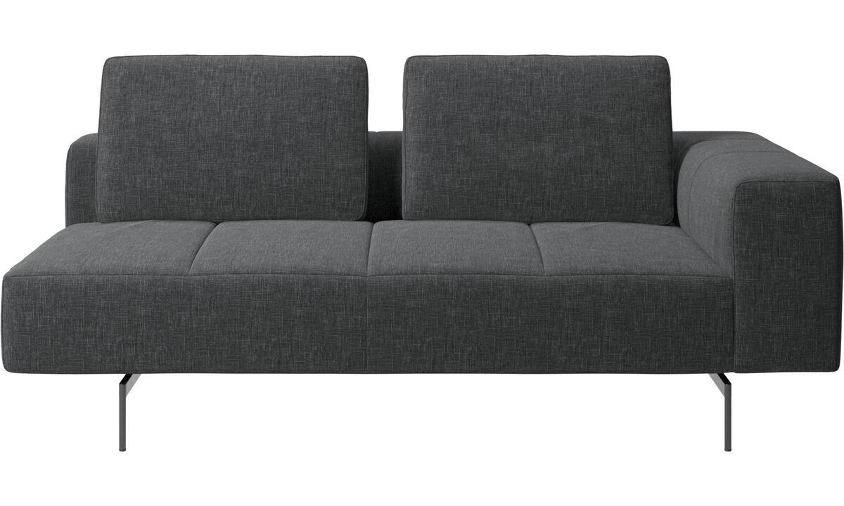 Modular sofas - Amsterdam 2,5 seating module, armrest right - Grey - Fabric