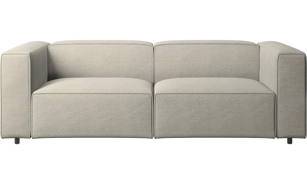 Sofás de 2 plazas y media - sofá Carmo - En beige - Tela