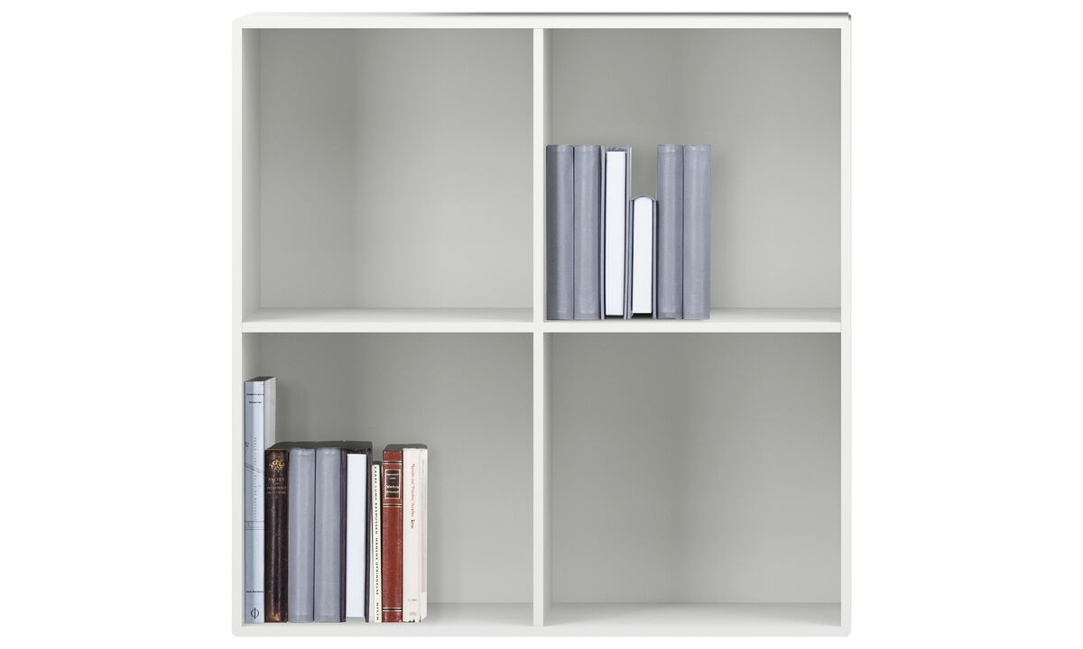 Wall Units - Como bookcase - White - Lacquered