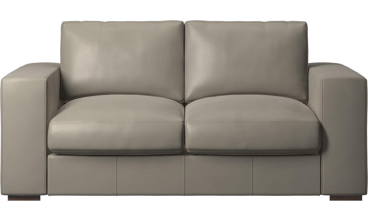 2-sitzer Sofas - Cenova Sofa - Grau - Leder