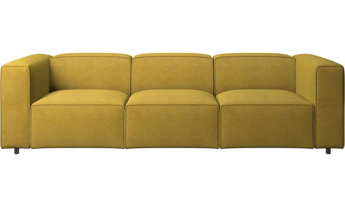 Sofás de 3 plazas - sofá Carmo - En amarillo - Tela