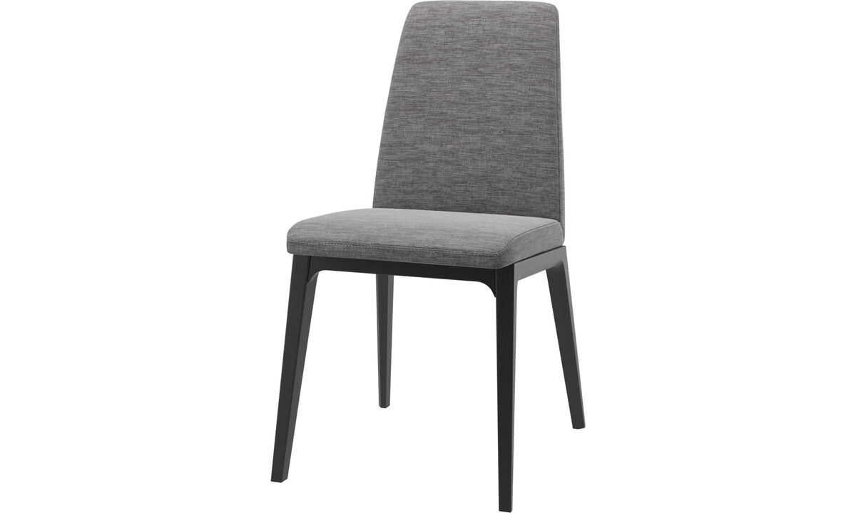 Dining chairs - Lausanne chair - Gray - Fabric