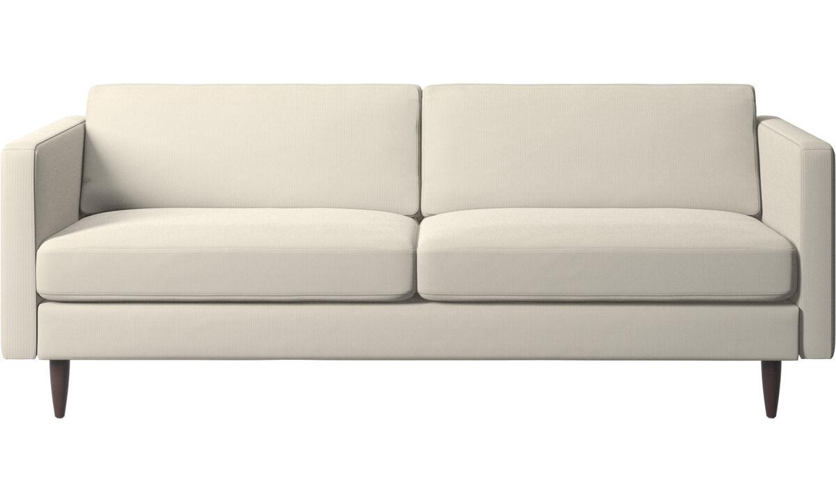 Sofás de 2 plazas y media - sofá Osaka, asiento regular - Blanco - Tela