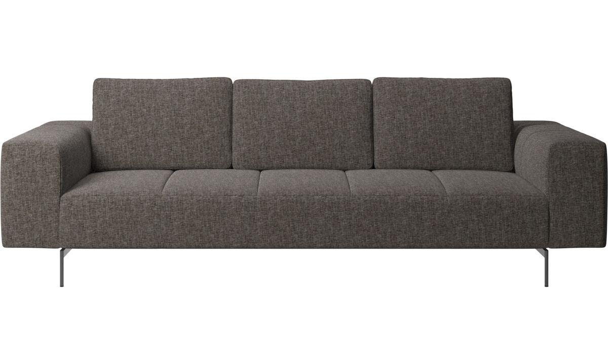 3 personers sofaer - Amsterdam sofa - Brun - Stof