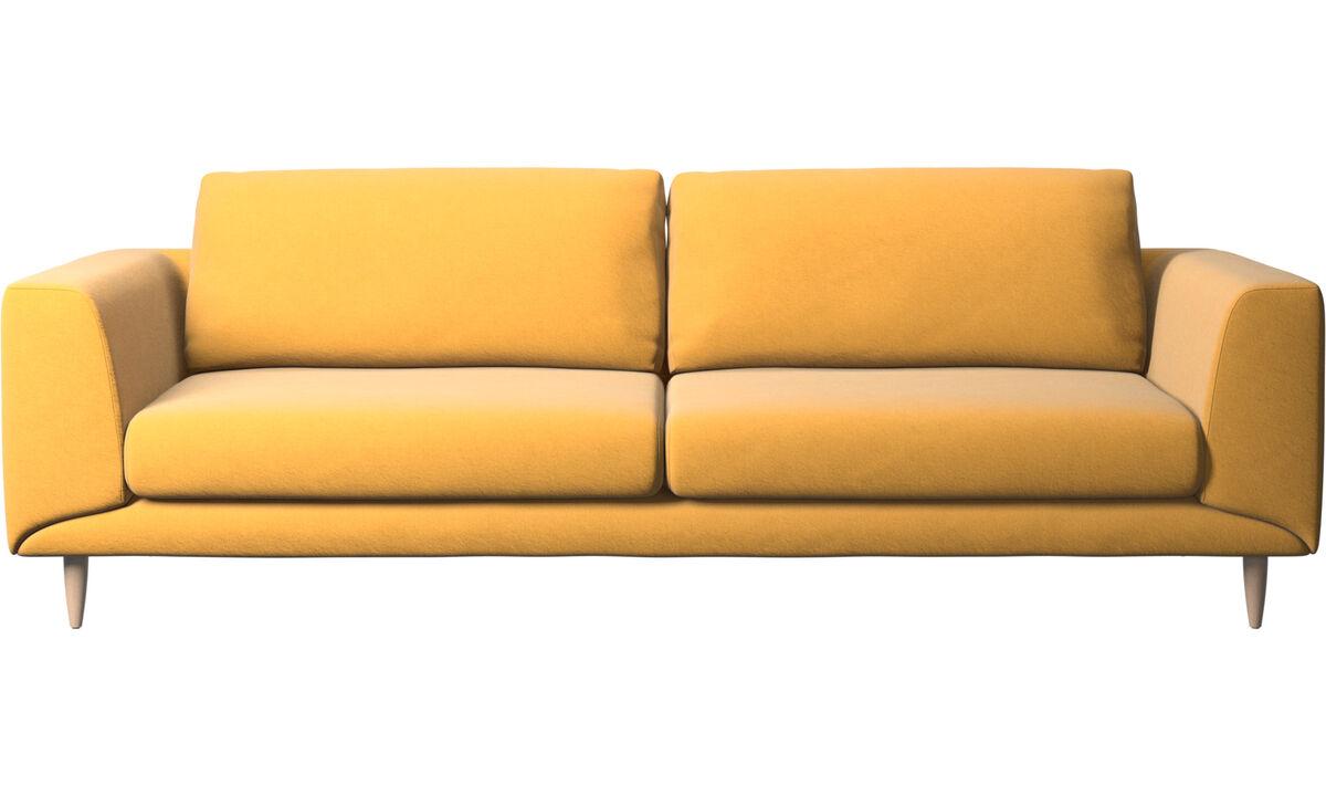 Sofás de 3 plazas - Sofá Fargo - En amarillo - Tela