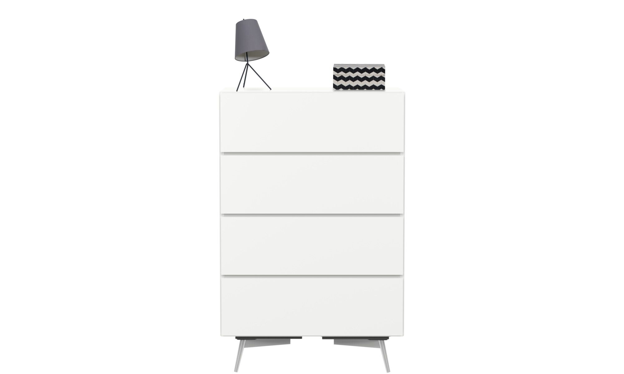 Oak Trendy White Desk Concepts Chests of drawers - Lugano chest - White - Lacquered
