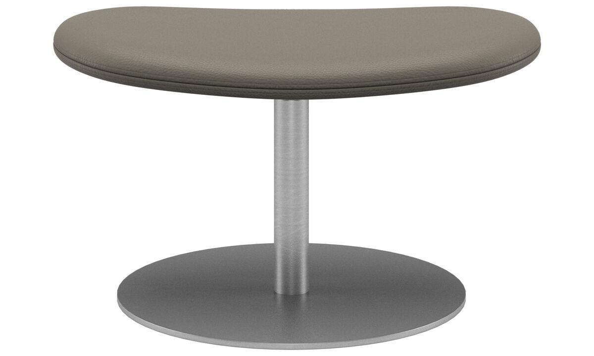 Footstools - Ogi footstool - Grey - Leather