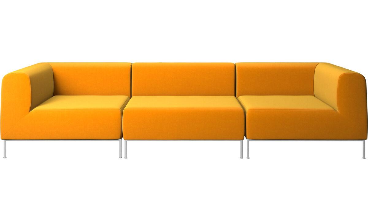 Sofás modulares - Sofá Miami - Naranja - Tela